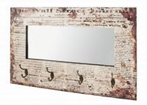 Appendiabiti da parete con pannello homehome - Appendiabiti da parete con specchio ...