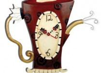 Orologio da Cucina Design Teiera Bollente