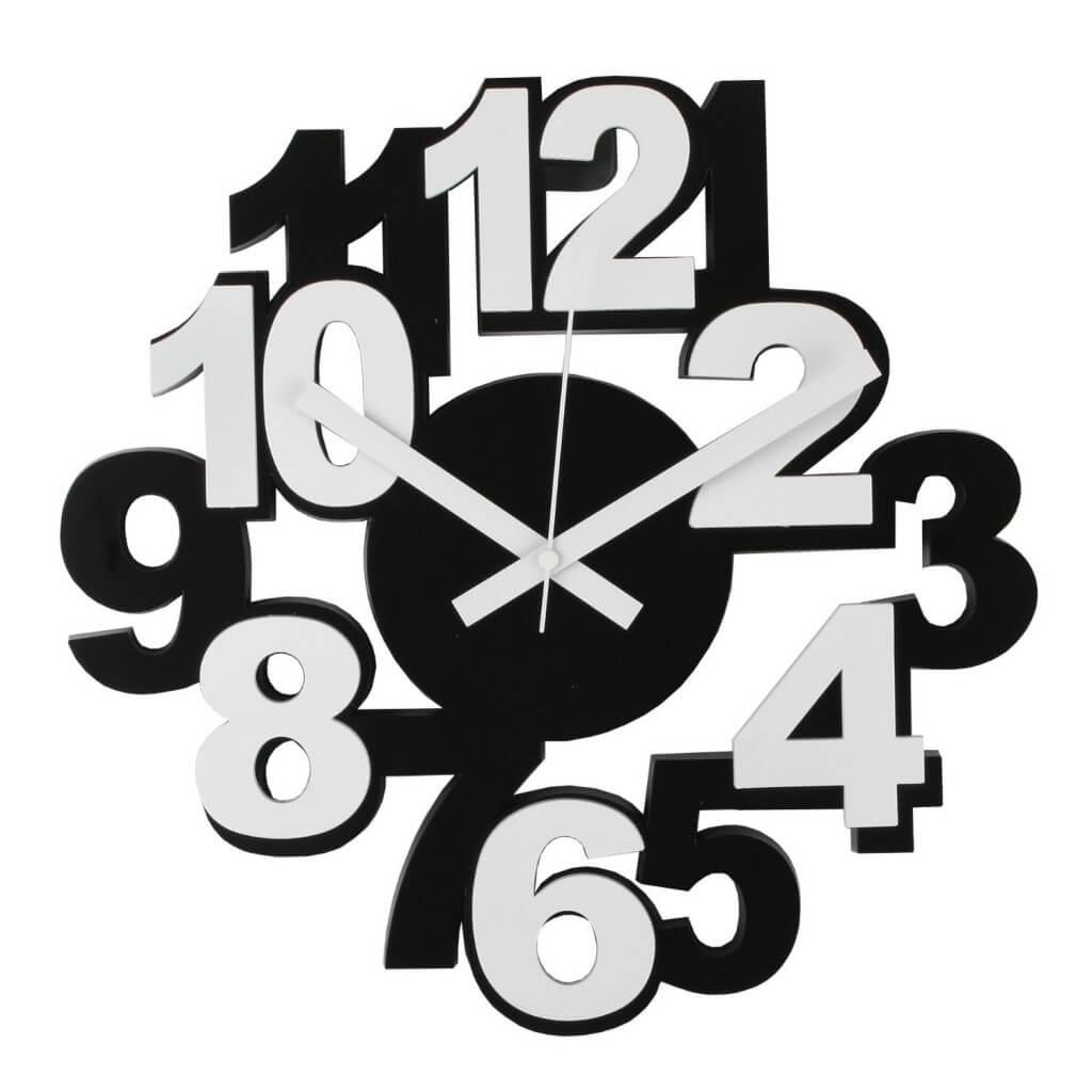 Orologio da Parete Moderno con Cifre in rilievo