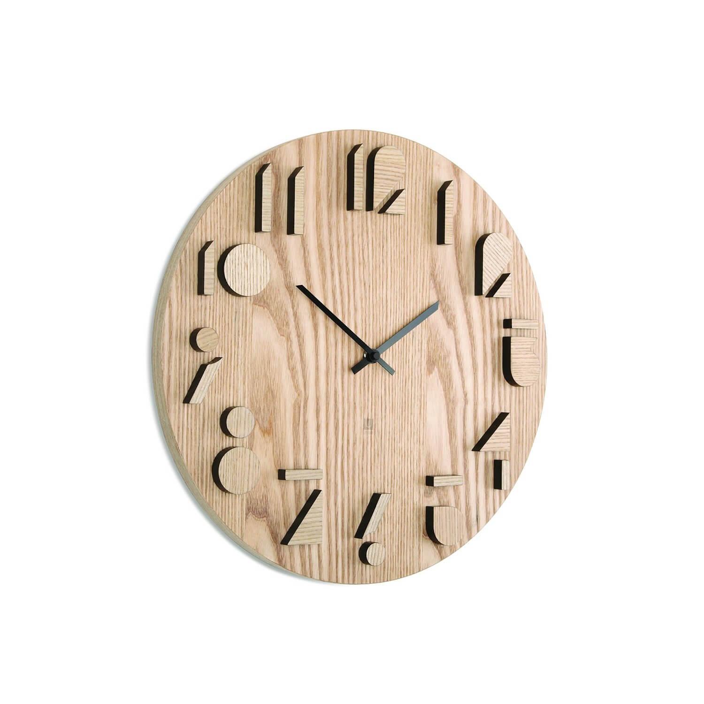 Orologi da parete in legno homehome - Orologi componibili da parete ...