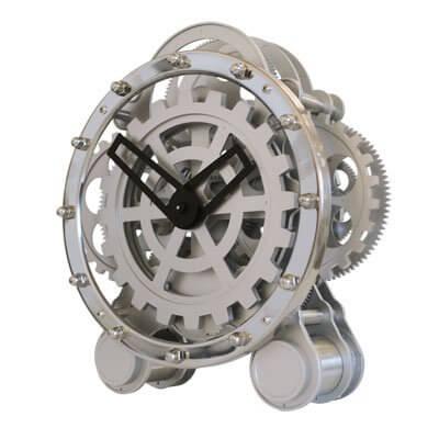 Orologio da Tavolo Meccanico con ingranaggi a vista