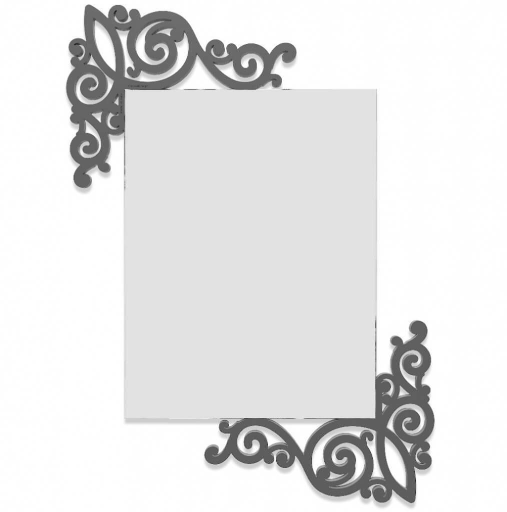Specchi piccoli da parete homehome - Supporti per specchi a parete ...