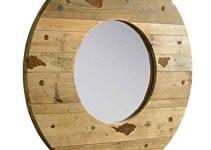 Specchio Rotondo da Parete Vintage