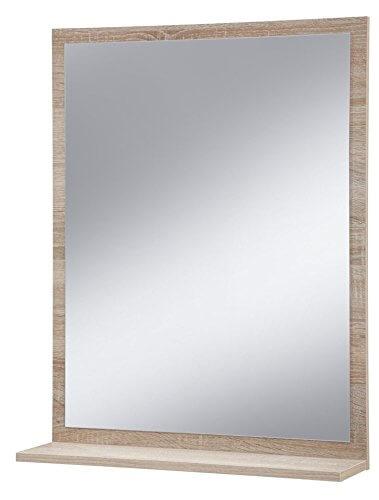 Specchio da bagno con mensola homehome - Specchio con tv ...