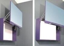 Specchio da Bagno con Contenitore e apertura verticale