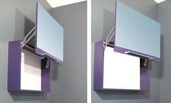 Specchio da bagno con contenitore homehome - Specchio contenitore per bagno ...