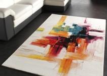 Tappeto Moderno Colorato a Pennellate