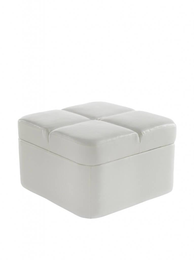 Pouf Contenitore Bianco Livy