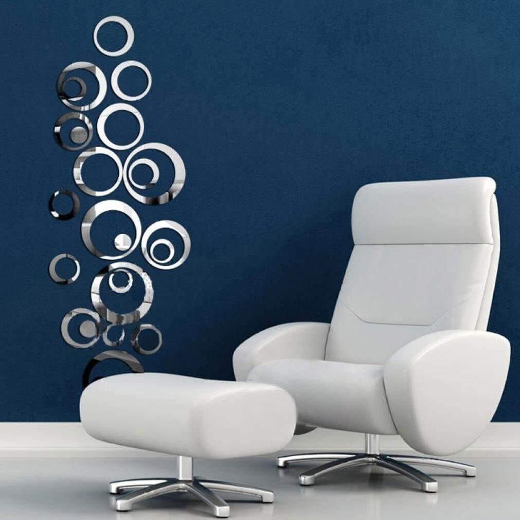 Specchi Adesivi per la Parete: Facile installazione e Stile
