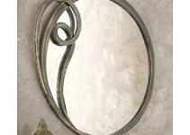 Specchio in Ferro Battuto argento anticato