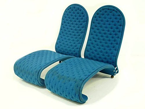 Coppia di Poltrone Vintage Easy Chair color Bluette