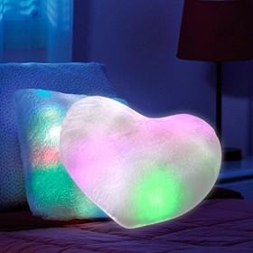 Cuscino a Forma di Cuore con luci