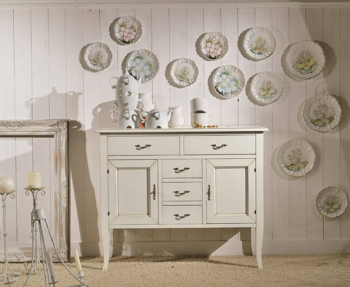 Credenza in stile shabby chic homehome for Casa stile shabby chic
