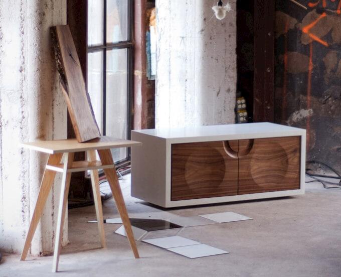 Credenza Moderna Legno Massello : Credenza moderna madia di design ante e cassetti