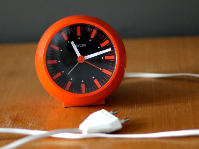 Orologio da Tavolo Moderno Arancione