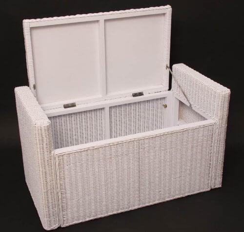 Panca a contenitore bianca homehome - Ikea panche da giardino ...