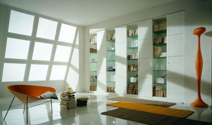 Scaffali Casa a Libreria Moderna