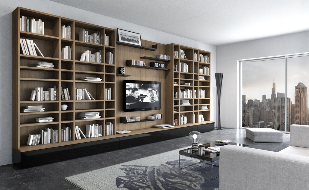 Porta tv a parete homehome - Porta televisori a parete ...